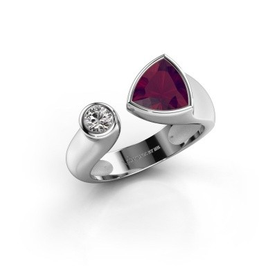 Ring Latisha 950 platina rhodoliet 7 mm