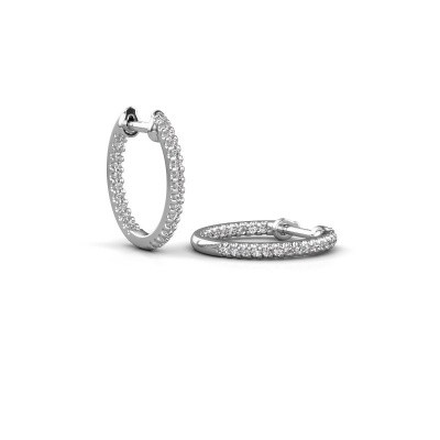 Picture of Hoop earrings Jackie 12.5 mm B 585 white gold diamond 0.27 crt