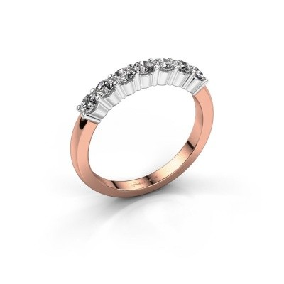 Foto van Verlovingsring Yasmin 7 585 rosé goud lab-grown diamant 0.56 crt