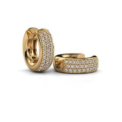 Picture of Hoop earrings Lana 375 gold zirconia 1.1 mm