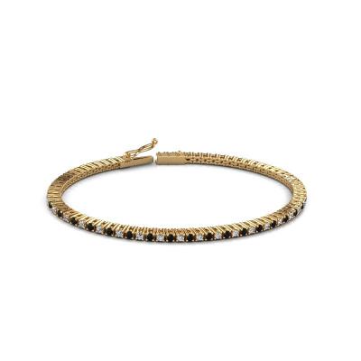 Picture of Tennis bracelet Karin 2 mm 375 gold black diamond 2.376 crt