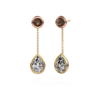 Picture of Drop earrings Ladawn 585 gold diamond 2.10 crt