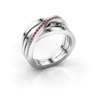 Foto van Ring Esmee 925 zilver robijn 1 mm