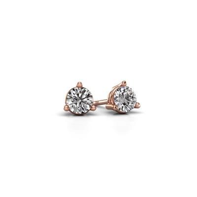 Foto van Oorstekers Somer 375 rosé goud diamant 0.40 crt