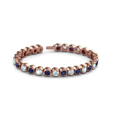 Picture of Tennis bracelet Bianca 5 mm 375 rose gold aquamarine 5 mm