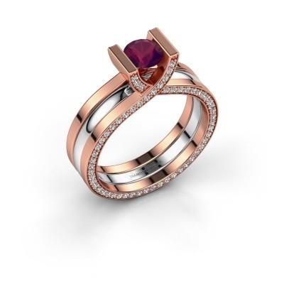 Foto van Ring Kenisha 585 rosé goud rhodoliet 5 mm