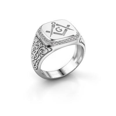 Men's ring Hugo 375 white gold lab grown diamond 0.255 crt