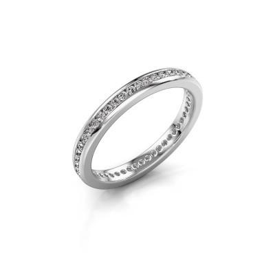 Foto van Aanschuifring Lura 1 950 platina diamant 0.49 crt