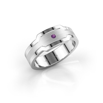 Men's ring Guido 950 platinum amethyst 2 mm