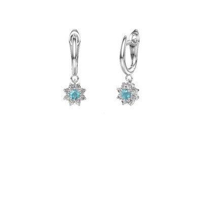 Picture of Drop earrings Camille 1 950 platinum blue topaz 3 mm