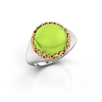 Picture of Ring Birgit 585 white gold peridot 12 mm
