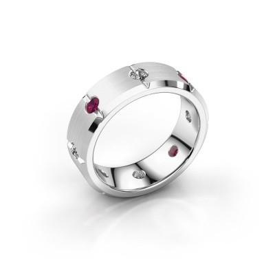 Men's ring Irwin 925 silver rhodolite 2.7 mm