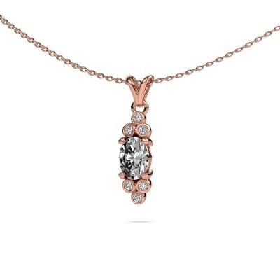 Foto van Hanger Lucy 2 375 rosé goud diamant 0.89 crt