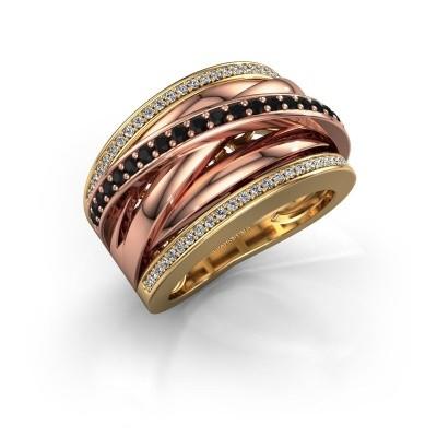 Foto van Ring Clair 2 585 goud zwarte diamant 0.628 crt