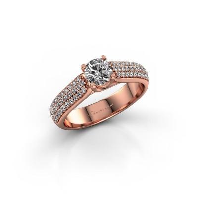 Foto van Verlovingsring Leoness 375 rosé goud diamant 0.50 crt