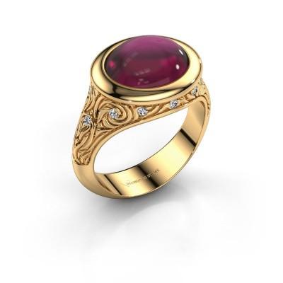 Foto van Ring Natacha 585 goud rhodoliet 12x10 mm