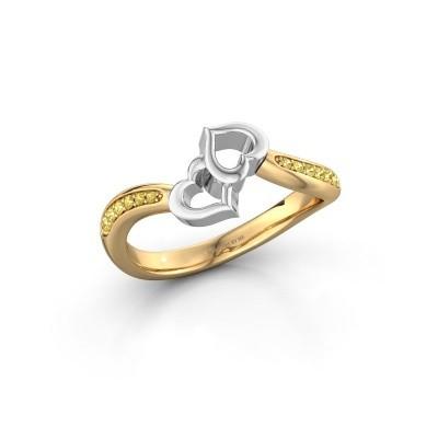Ring Xaviera 585 goud gele saffier 1.5 mm