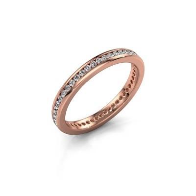Aanschuifring Lura 1 375 rosé goud lab-grown diamant 0.49 crt
