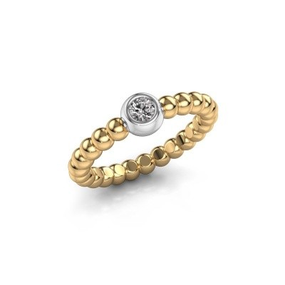 Stackable ring Dini 585 gold lab grown diamond 0.10 crt