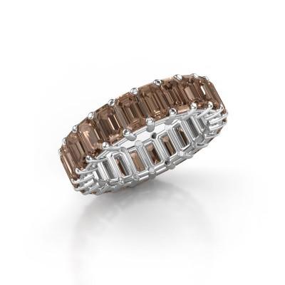 Ring Heddy EME 5x3 950 Platin Braun Diamant 6.38 crt