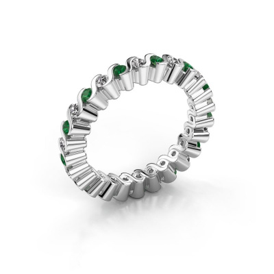 Stackable ring Faye 585 white gold emerald 2 mm