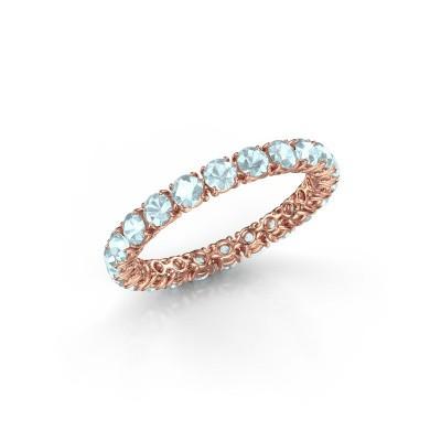 Foto van Ring Vivienne 2.7 375 rosé goud aquamarijn 2.7 mm