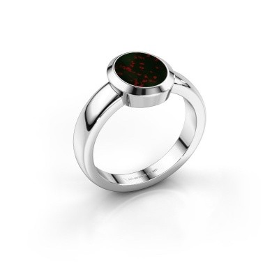 Pinky Ring Oscar 1 925 Silber Heliotrop 10x8 mm