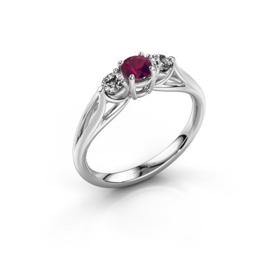 Picture of Engagement ring Amie RND 925 silver rhodolite 4.2 mm