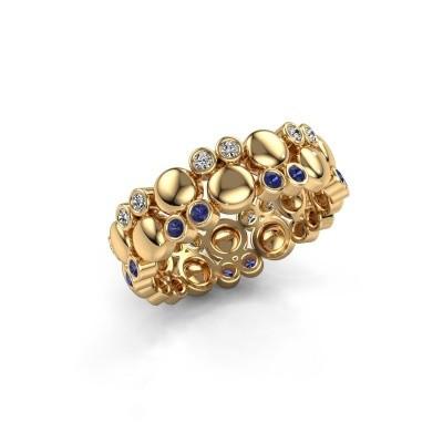Foto van Ring Joanne 585 goud saffier 1.4 mm