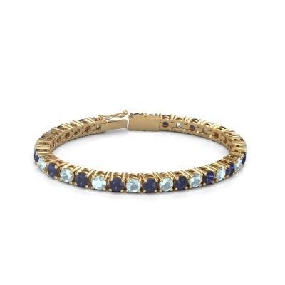 Tennisarmband Ming 375 goud saffier 5 mm
