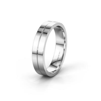 Wedding ring WH0200M15AP 585 white gold ±0.20x0.07 in
