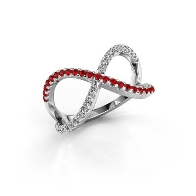 Ring Alycia 2 925 silver ruby 1.3 mm