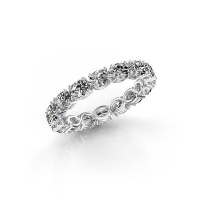 Foto van Ring Vivienne OVL 4x3 585 witgoud diamant 2.25 crt