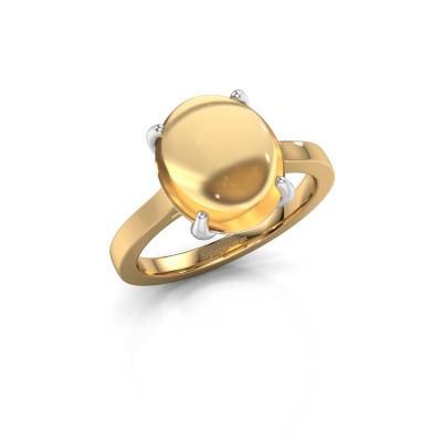 Foto van Ring Mallie 1 585 goud citrien 12x10 mm