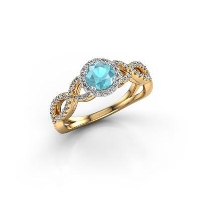 Engagement ring Dionne rnd 585 gold blue topaz 5 mm