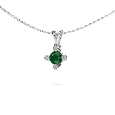 Picture of Pendant Cornelia Round 925 silver emerald 5.5 mm