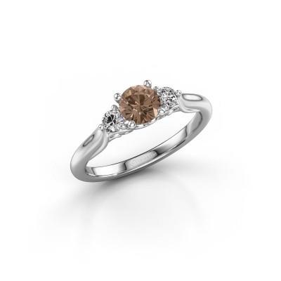 Foto van Verlovingsring Laurian RND 925 zilver bruine diamant 0.70 crt
