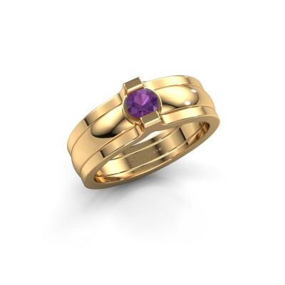 Ring Jade 585 Gold Amethyst 4 mm