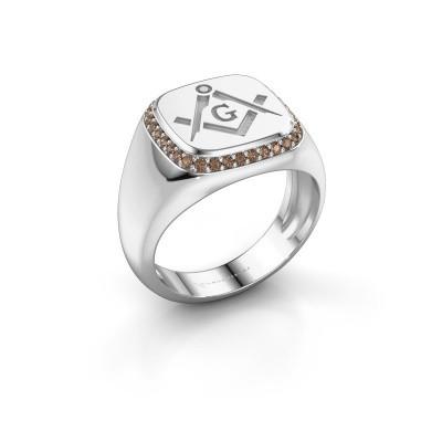 Men's ring Johan 950 platinum brown diamond 0.255 crt