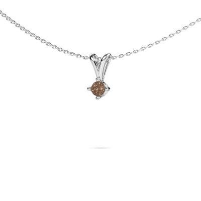 Foto van Ketting Jannette 585 witgoud bruine diamant 0.20 crt
