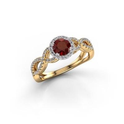 Engagement ring Dionne rnd 585 gold garnet 5 mm