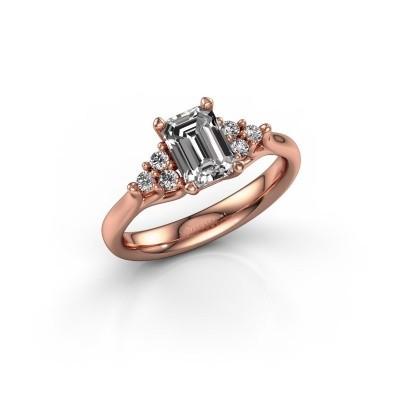 Foto van Verlovingsring Monika EME 375 rosé goud diamant 1.15 crt