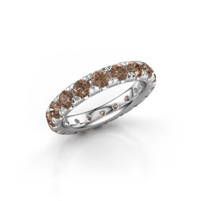 Foto van Aanschuifring Jackie 3.4 950 platina bruine diamant 2.700 crt