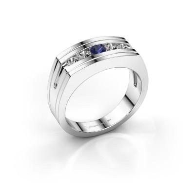 Foto van Heren ring Huub 585 witgoud saffier 3.7 mm