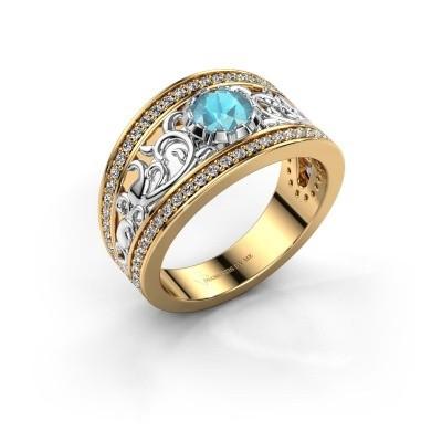 Bild von Ring Marilee 585 Gold Blau Topas 5 mm