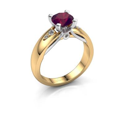 Engagement ring Ize 585 gold rhodolite 6.5 mm