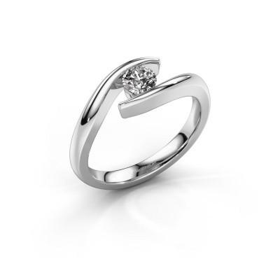 Foto van Aanzoeksring Alaina 585 witgoud diamant 0.30 crt