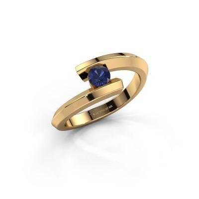Ring Paulette 585 goud saffier 3.4 mm