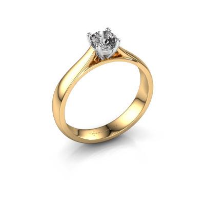 Bague de fiançailles Sam 585 or jaune diamant 0.40 crt