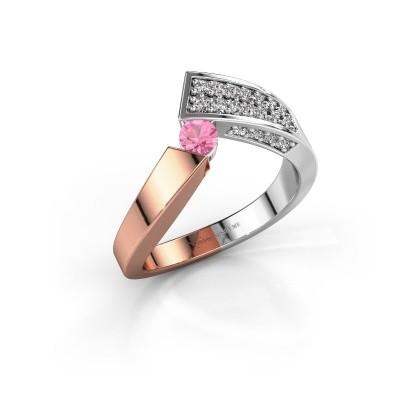 Ring Evie 585 Roségold Pink Saphir 3.4 mm